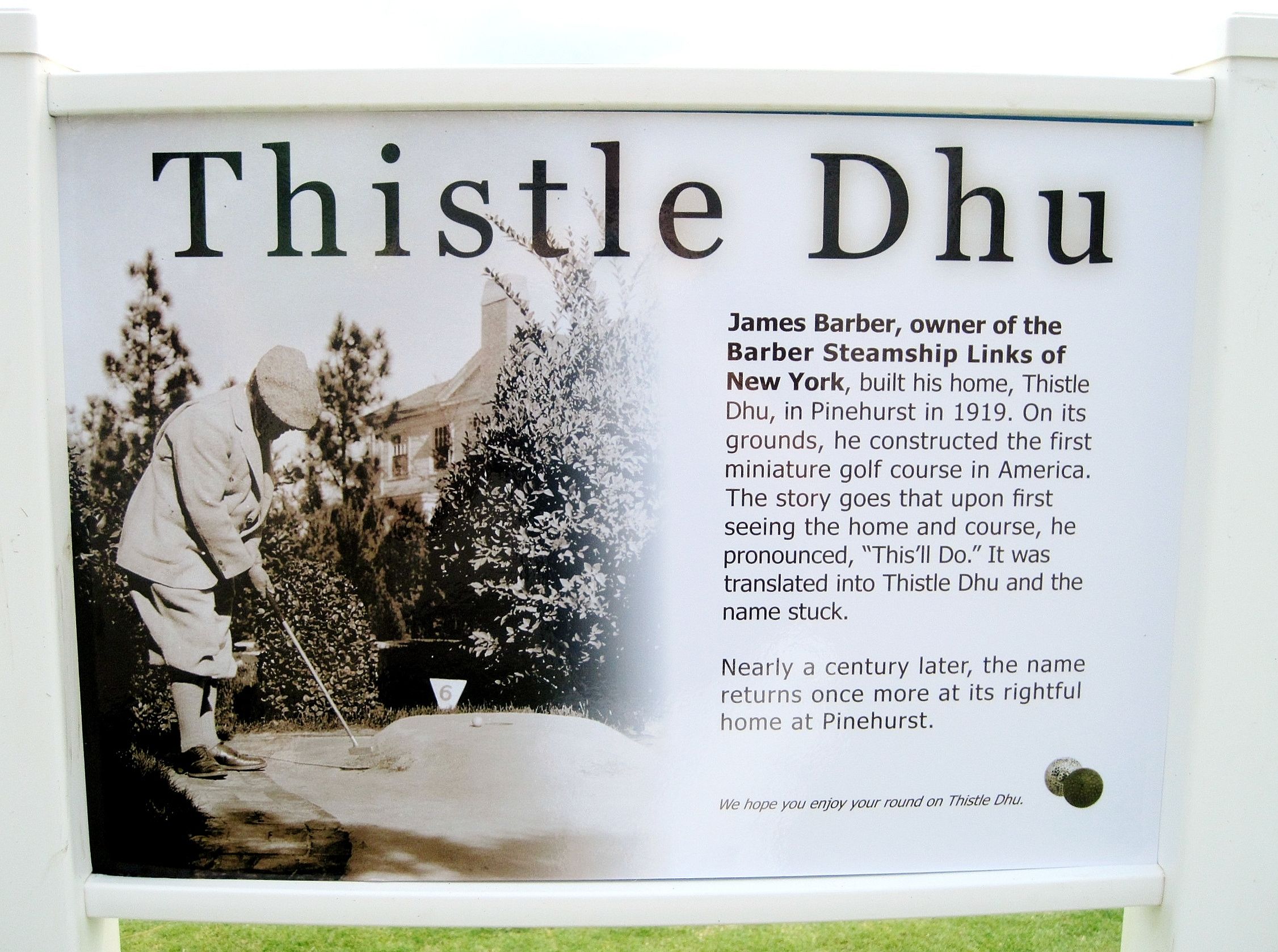 Thistle Dhu Pinehurst