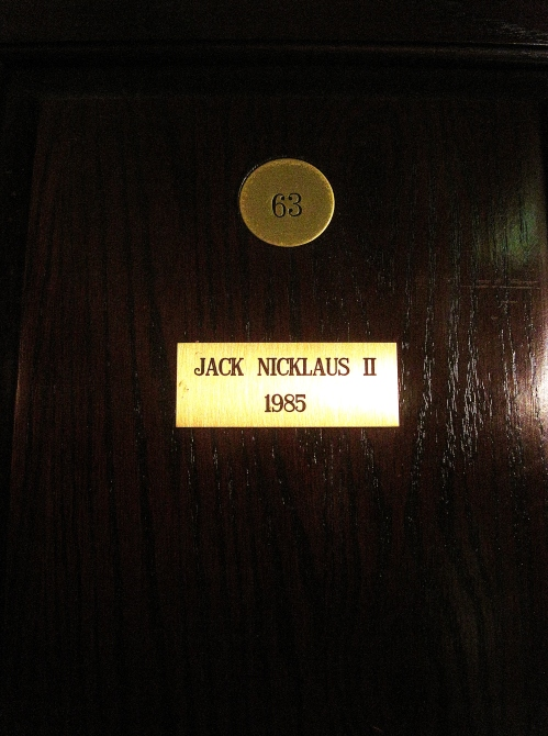 Jack Nicklaus II's locker in the North and South Locker Room at Pinehurst.