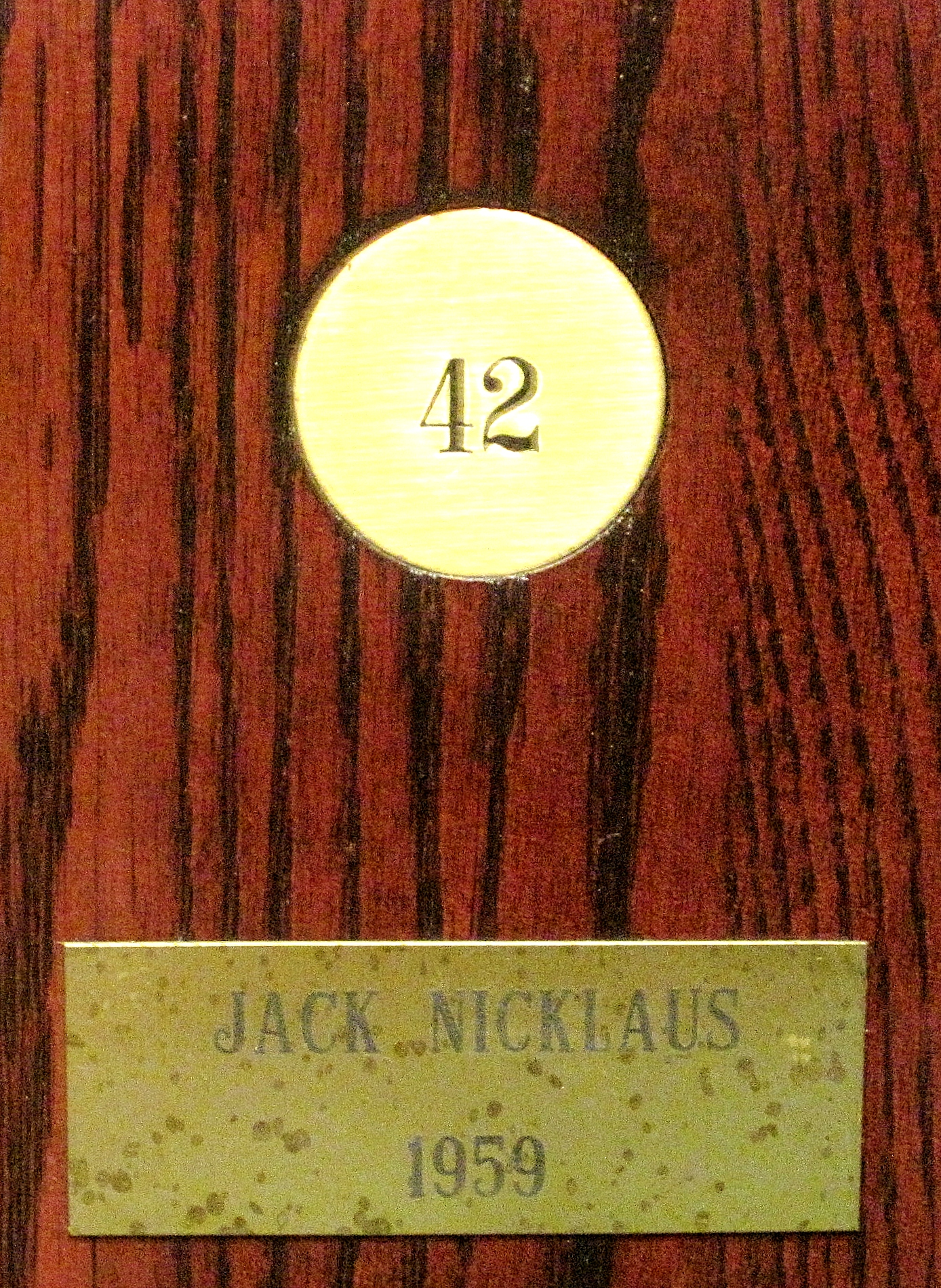 Jack Nicklaus' locker in the North and South Locker Room at Pinehurst.