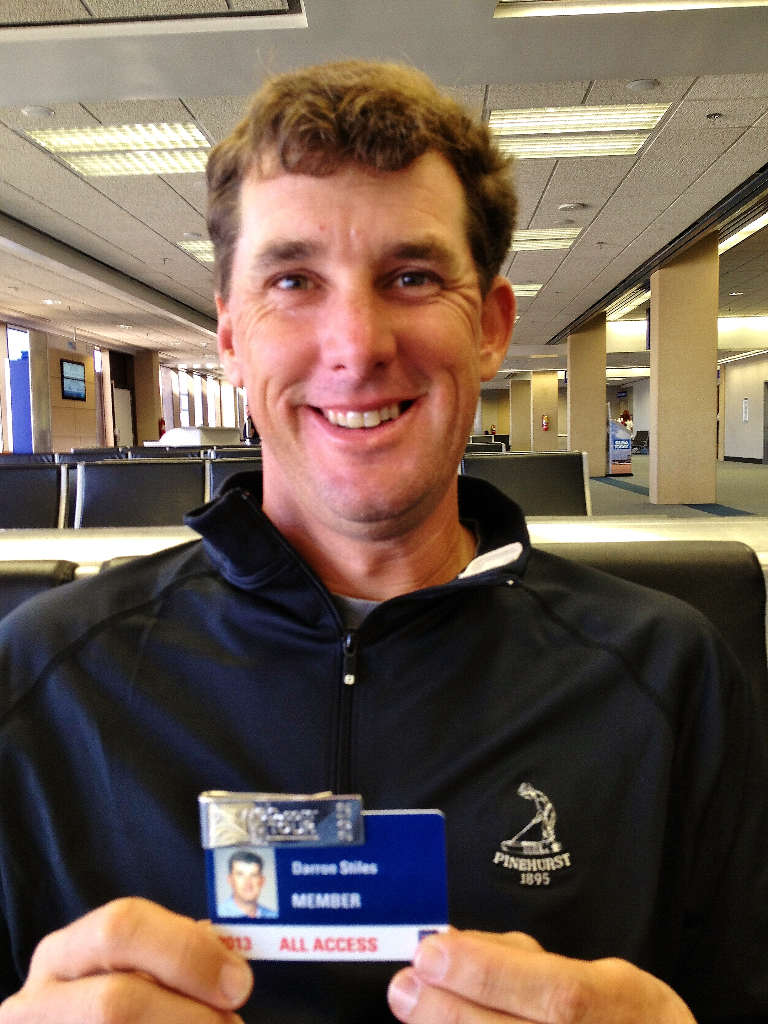 Pinehurst Country Club member Darron Stiles holds his 2013 PGA Tour card.