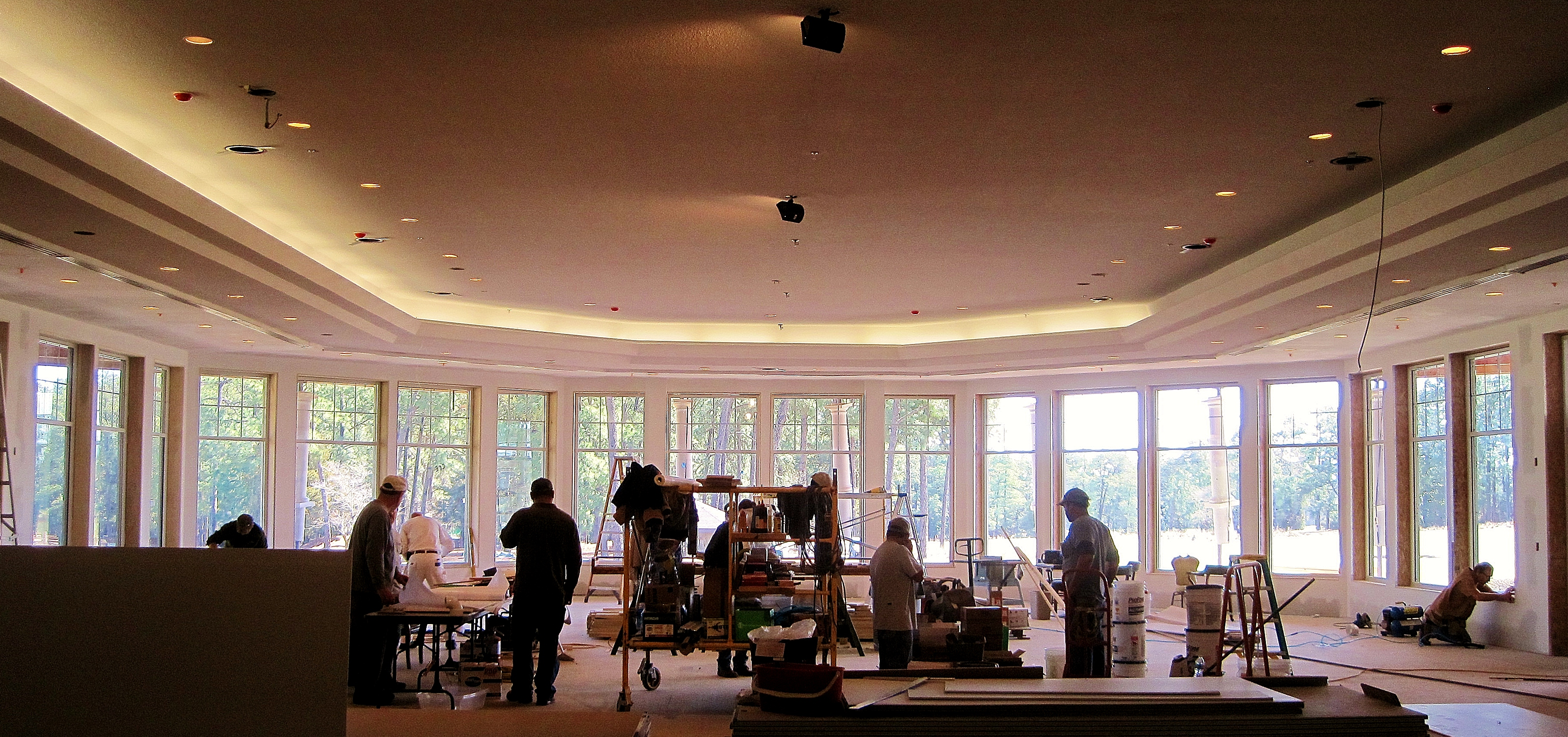 The view from inside the Pinehurst Country Club will be breathtaking - and expansive - as well.