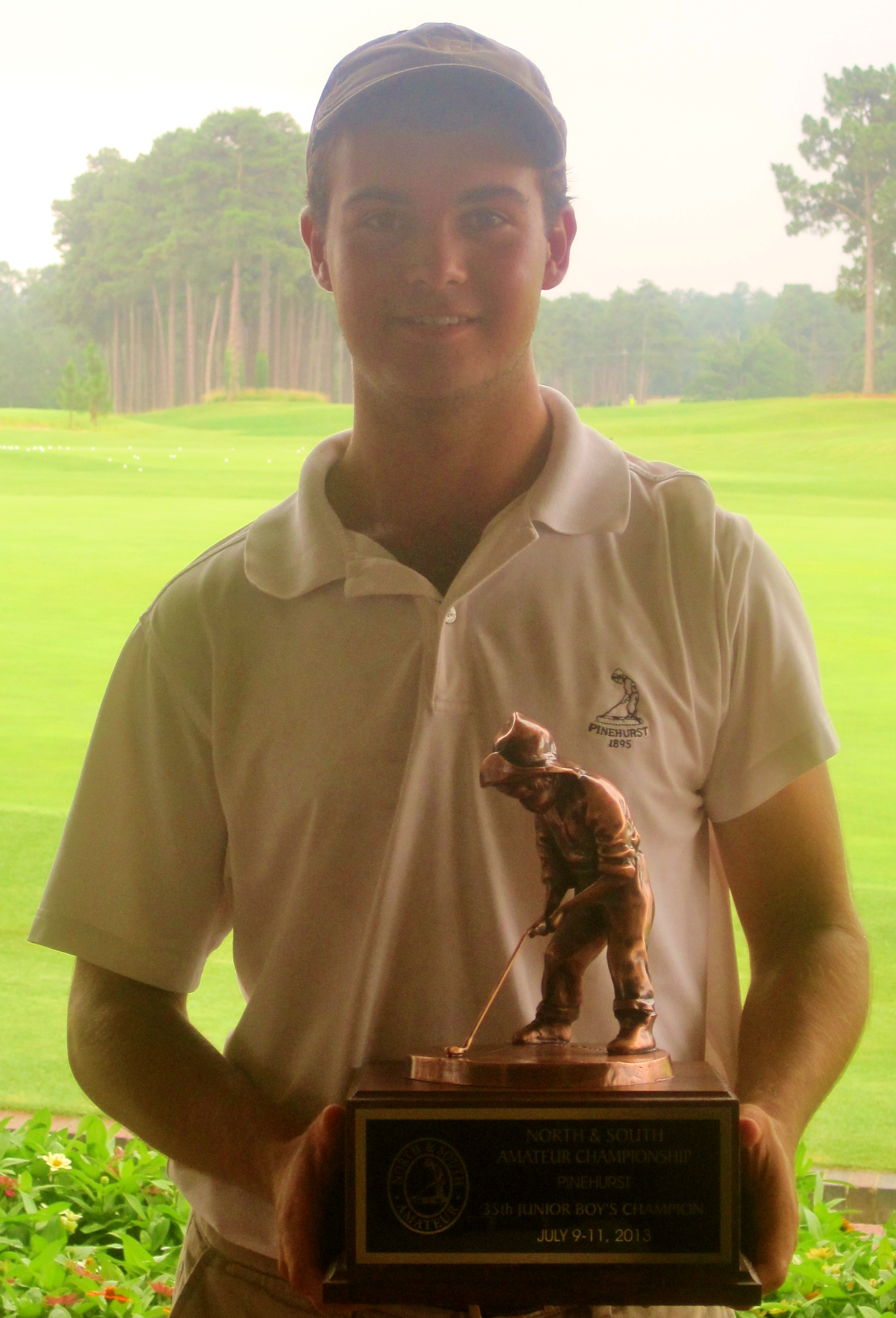 Gastonia's Will Blalock wins the 35th North & South Junior Boys Championship.