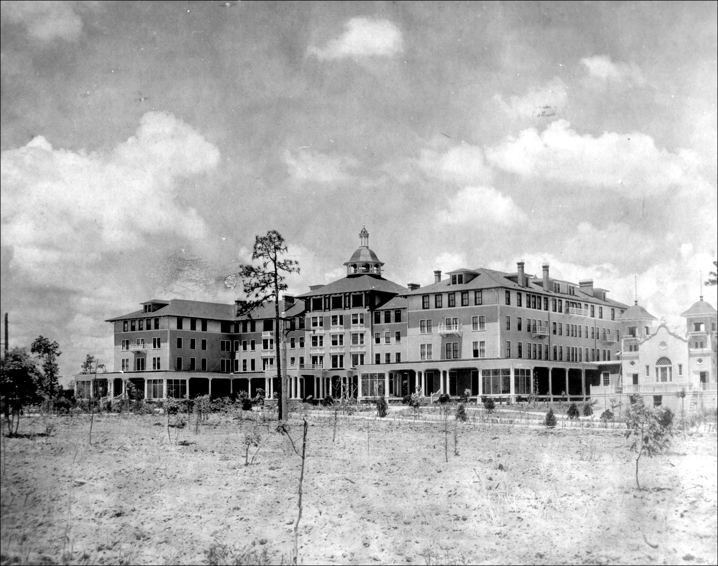 A vintage photo of The Carolina Hotel. Photo Courtesy of the Tufts Archives