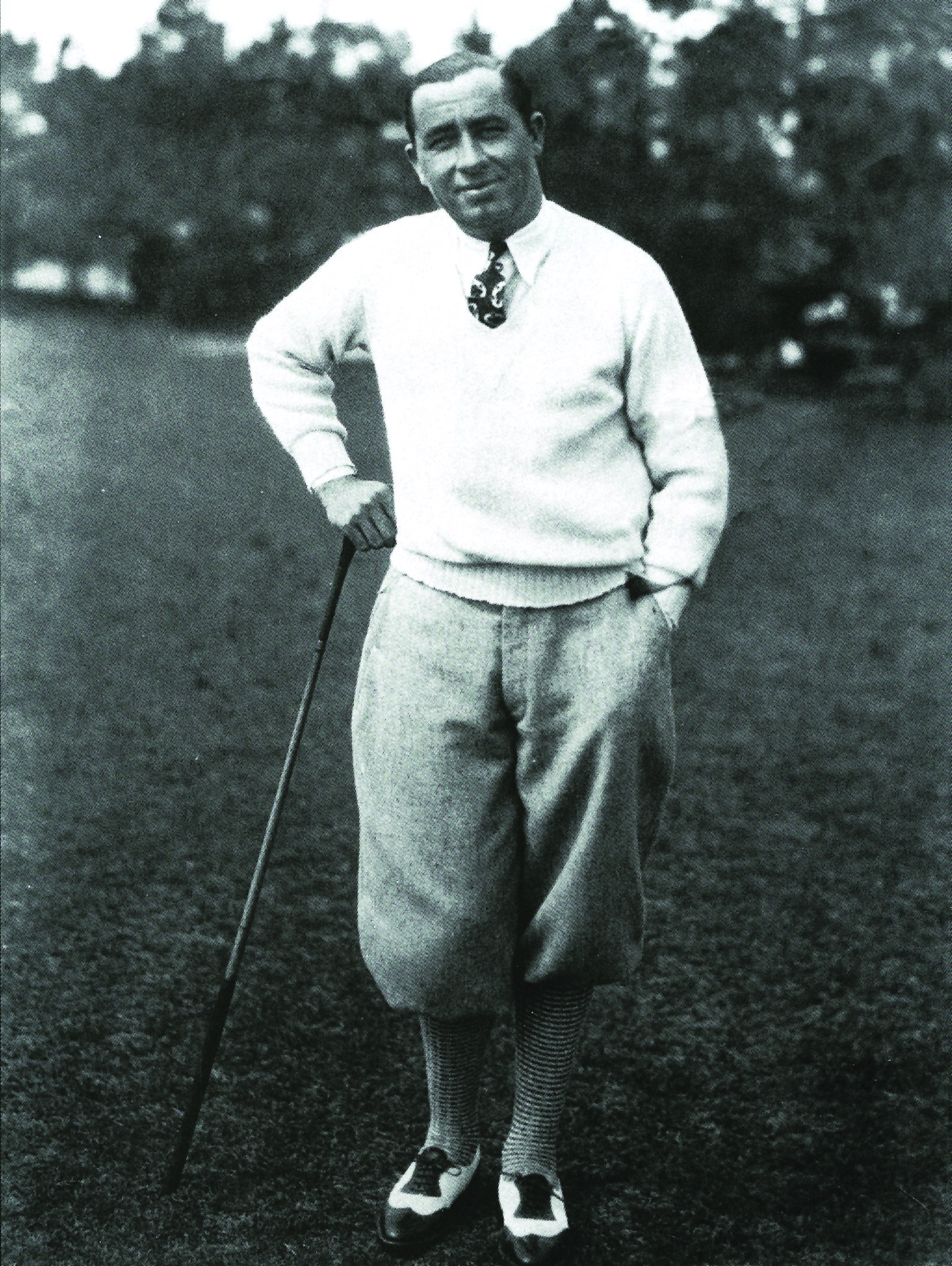Golf Legend Walter Hagen won three times at Pinehurst. Photo courtesy of the Tufts Archives