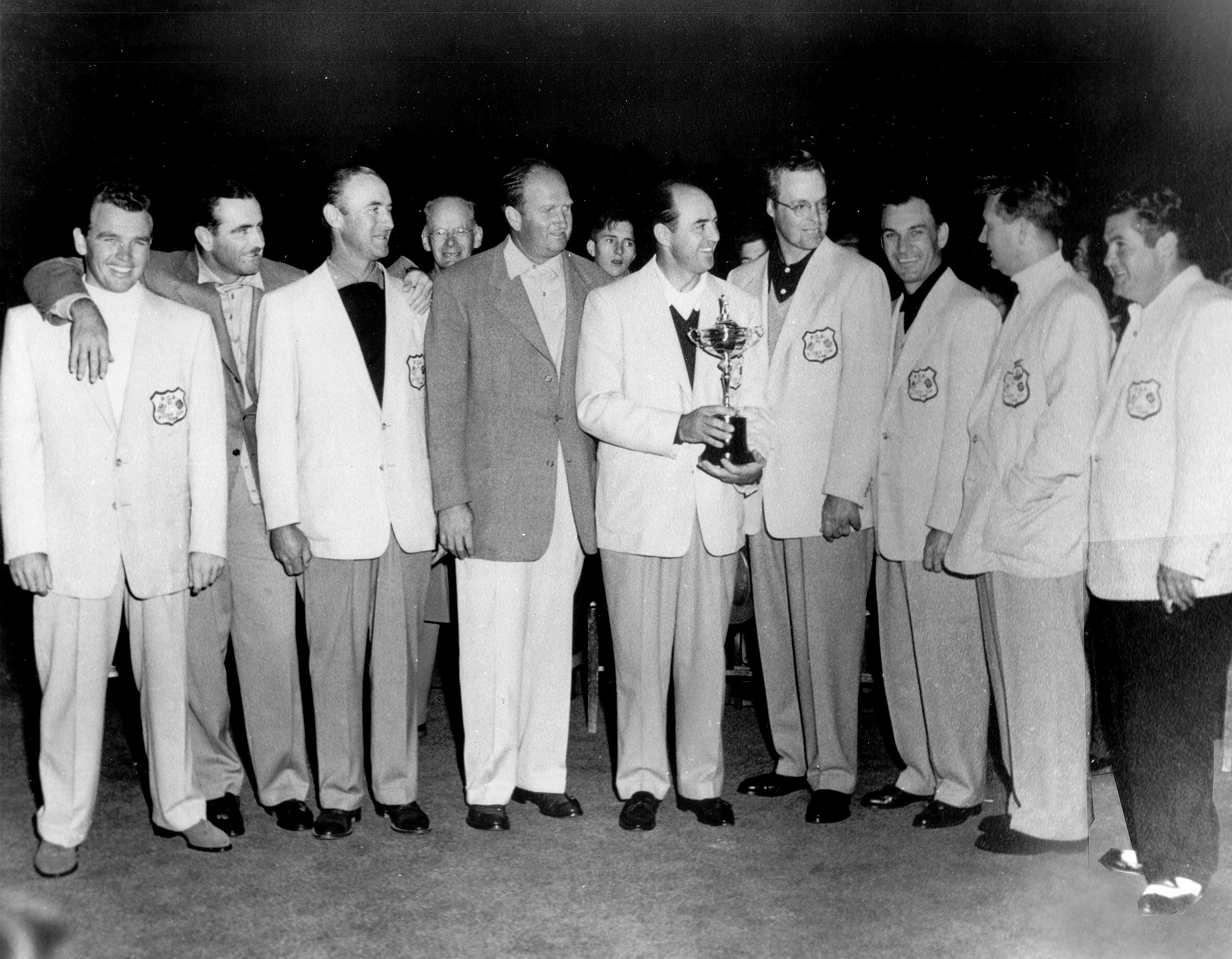 The victorious American Ryder Cup team in 1951 at Pinehurst.