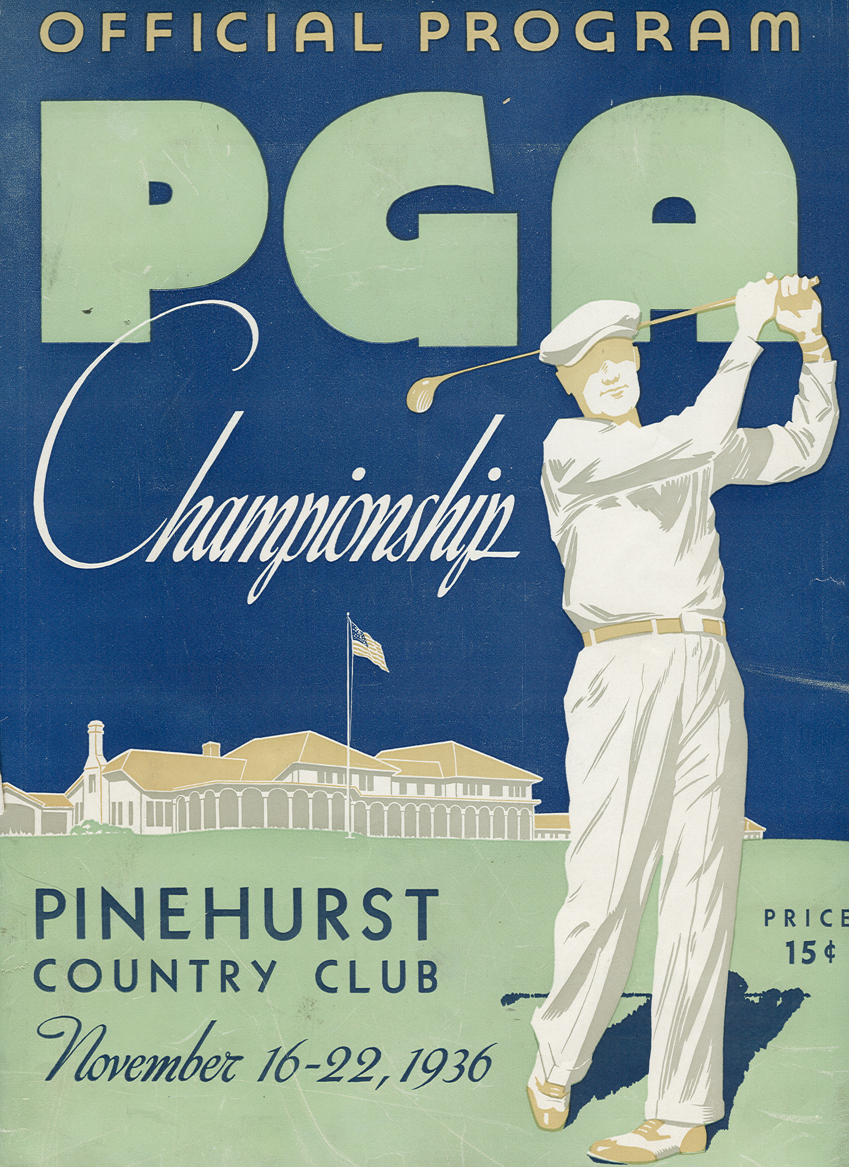 The cover to the program for the 1936 PGA Championhsip at Pinehurst.